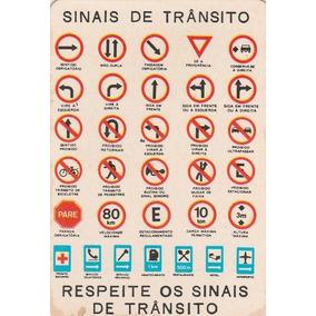 Calendário Bolso 1984 - Sinais De Transito - Q5
