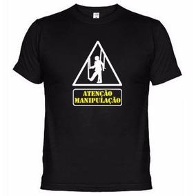 6dbb4dc2e2 Camisetas Engraçadas Atenção Manipulação