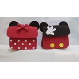 Mochila Lembrança Da Minnie Ou Mickey,10 Unidades
