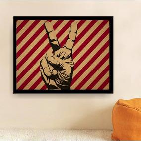 Poster Paz E Amor - 30x40 Cm