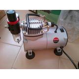 Compresor As-18 De 1/6 Hp + Aerografo Hd-130 + Manguera 1/8