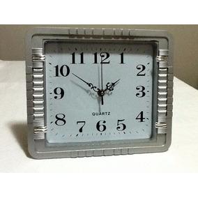 3b43536a9b5 Relogio De Parede Digital Retangular Prata Nove Funções - Relógios ...