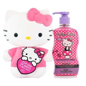 Espuma De Baño Hello Kitty 3 D Y Jabón + Gel De Ducha