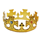 Coroa Rei Plástica Regulável Festa Fantasia Kit 13 Peças