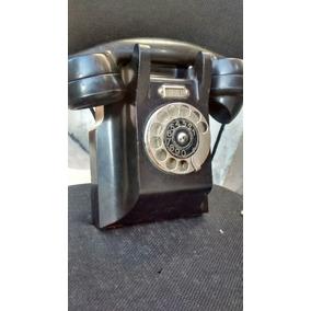 Telefone Em Baquelite Preto Ericsson Antigo De Parede