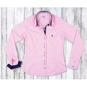 Camisa Social Femininas Rosa claro em Paraná no Mercado Livre Brasil 36f89af434