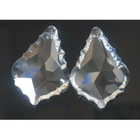 1 Piedra Hoja De Cristal Cortado Para Candil O Cortina 5 Cm