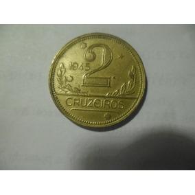Moeda De 2 Cruzeiros De 1945 - Sem Siglas Linda Moeda