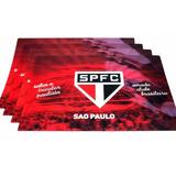Jogo Americano 3d Sao Paulo 4 Pçs Produto Oficial Licenciado