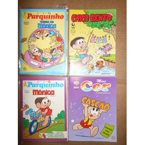 Turma Da Mônica Kit 4 Revistas 1 Hq 2 Passatempo Kit 04