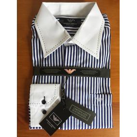 052f206f3d6 Camisa Social Georgio Armani Importada Azul (made In Italy)