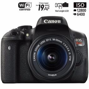 Canon T6i Com18-55 Stm/autorizada Canon/ Pronto Entrega+16gb