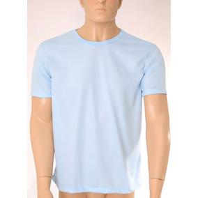 10 Camisetas 100% Poliéster Azul Claro Sublimação Atacado