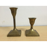 Candelabros Bronce Antiguos Made In India B3