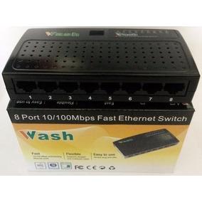 Switch Wash 8 Puertos 10/100 Mbps Red Lan Internet Rj45 Ccc