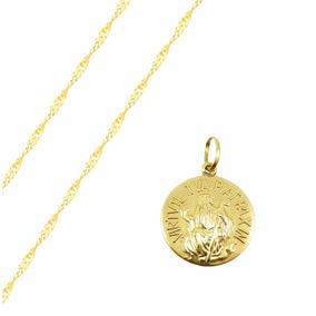 36d728dba1b84 Medalha De São Bento Corrente Ouro C - Joias e Relógios no Mercado ...
