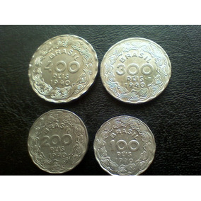 Serie Getulio Vargas 400=300=200=100 Réis 1940
