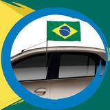 Bandeira Do Brasil Com Suporte Janela Do Carro - 2 Un