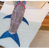 Cobertor Saco De Dormir Cauda De Sereia Tubarão 1,38mt