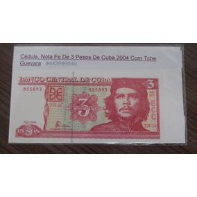 1 Cédula - Fe - República De Cuba - 3 Pesos Ano: 2004