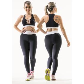Conjunto Roupa Fitness Para Academia - Legging E Top Barbell