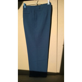Pantalon Vestir Mujer Tropical Azul - Pantalones en Mercado Libre ... ada01620220e