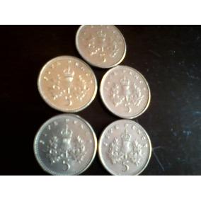 Moeda 5 Cinco Centavos Libra Variados Anos Frete Grátis!