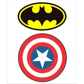 Simbolo Batman E Escudo Capitao America