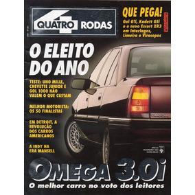 Quatro Rodas Nº391 Omega Vw Gol Gti Kadett Gsi Xr3 Uno Mille