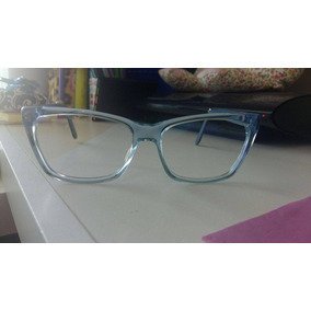 Armação Óculos Hayat Azul Transparente   Preto a40cb5fa1f