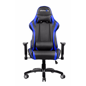Silla Raidmax Drakon Gamer Azul Soporta 120kg Regulable 180º