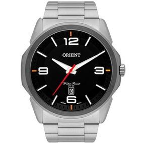 8e4ece10f1a Relogio Unissex Prata E Preto Mostrador Vermelho Orient - Relógios ...
