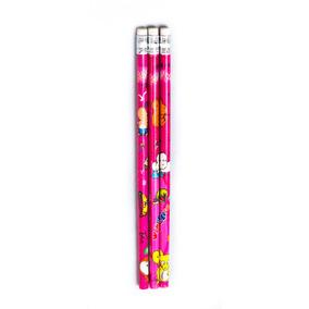 Lápis Estampa Borracha Kit C/ 10 Unidades Escolar Material