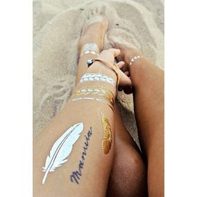 Flash Tattoo Temporal Gold/silver Mayor Y Detal.