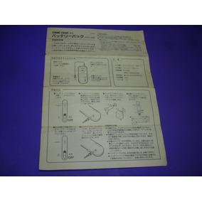 Game Gear : Manual Battery Pack Original Japones