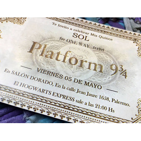 Tarjeta - Invitación Cumpleaños Quince Hogwarts Harry Potter