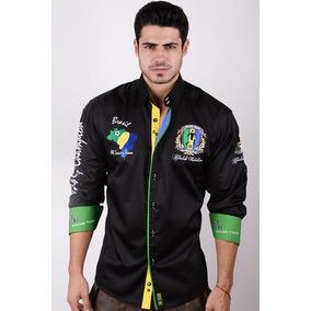 Camisa Absolute Rebellion Brasil Polo Negro
