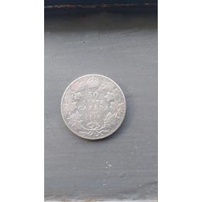 Moeda Prata 50 Cents Canada 1910 Edwardvs Vii Dei Gratia Rex