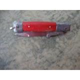 Canivete Antigo Faca Vermelho 13*