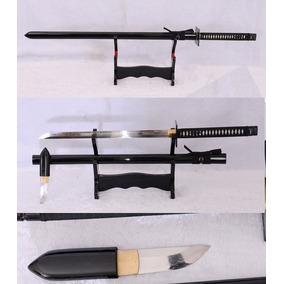 Espada Katana Ninja Samurai Aço 1095 1060 Com Faça Tanto