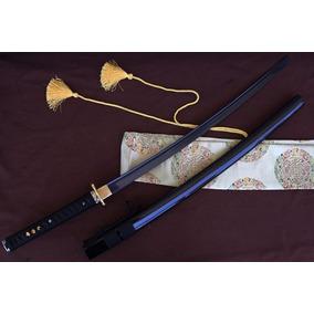Espada Katana Samurai Ninja Aço Damascus Funcional Top
