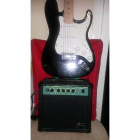 Guitarra Eléctrica Black Hawk Con Amplificador Y Forro