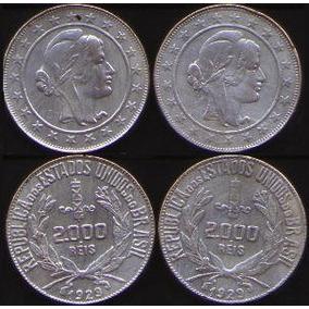 Moeda Antiga, 2000 Reis Do Ano De 1921