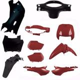 Kit Carenagem Plasticos P/ Biz 100 Ano 2002 2003 - Vermelho