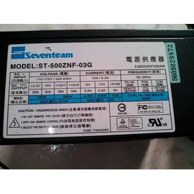 Fonte Atx Seventeam St-500 Znf 500w Reais - Semi Modular