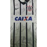 Camisa Do Corinthians Autografada Por Campeões Brasileiros