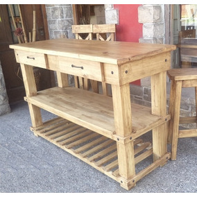 Mesas Rusticas De Cantonera Madera - Muebles de Cocina en Mercado ...