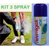 Gelo Em Spray Para Contusões Nevralgex Ice Kit Com 3 !!!