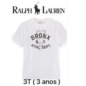 2618acc3ecaae T-shirt Ralf Lauren 3 Anos Original Ny Bronx