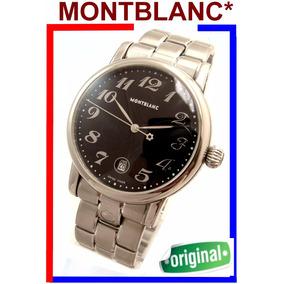 Elegante Montblanc Xl Star Aço-aço (40 Mm), Modelo Ref 7072!